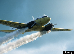 Aircraft spraying petrol based pesticides Florida Keys USA